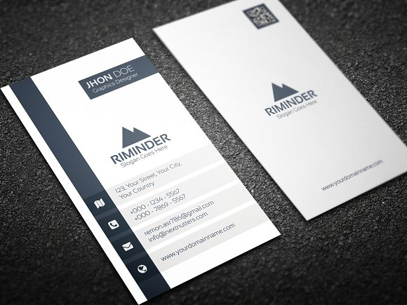 Simple vertical business card business card templates creative simple vertical business card business card templates creative market colourmoves