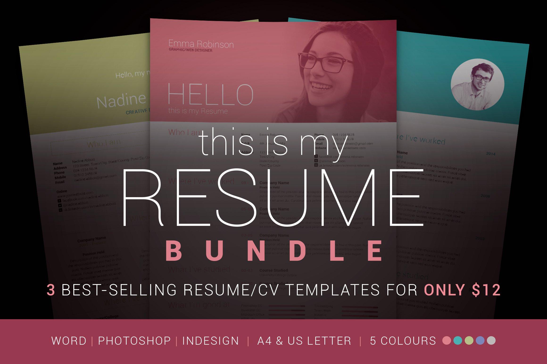 My Resume Bundle ~ Resume Templates ~ Creative Market