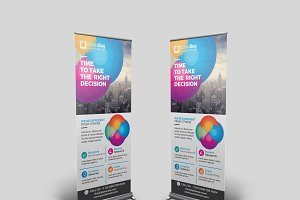 Colorful Roll Up Banner