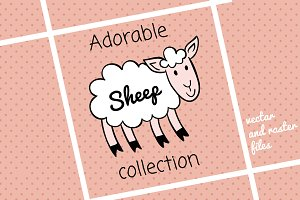 Happy sheep collection
