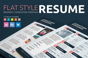 Flat Style Resume