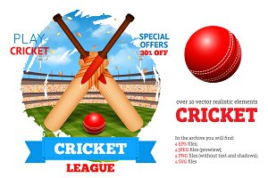 Cricket Game Set