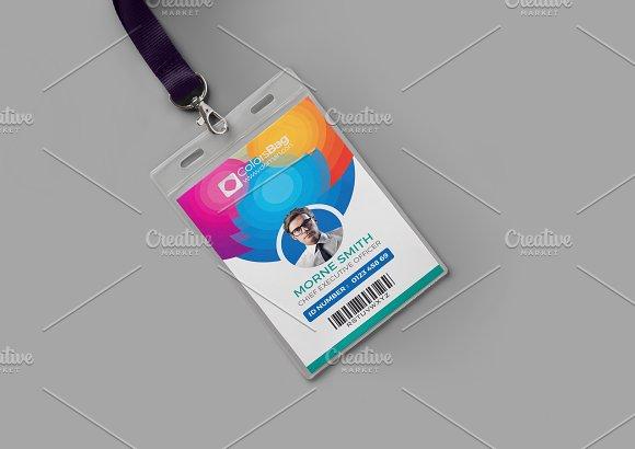 Id Card Template Card Templates Creative Market