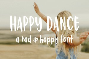 Happy Dance | Hand Lettered Font