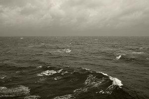 Winter Waves Sea