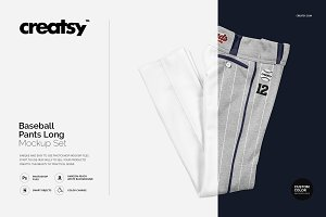 Baseball Pants Long Mockup Set