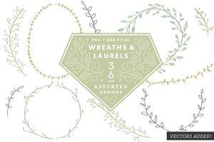 36 Wreaths & Laurels