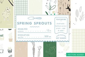 Spring Sprouts - Patterns