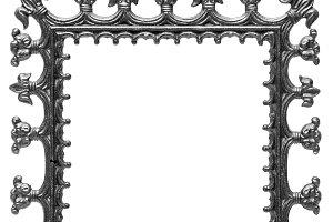 Black metal frame for a mirror