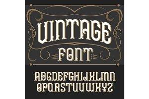 Vector vintage label font.  .