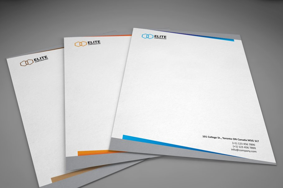 Letterhead 2 with DOCX in Stationery Templates - product preview 8