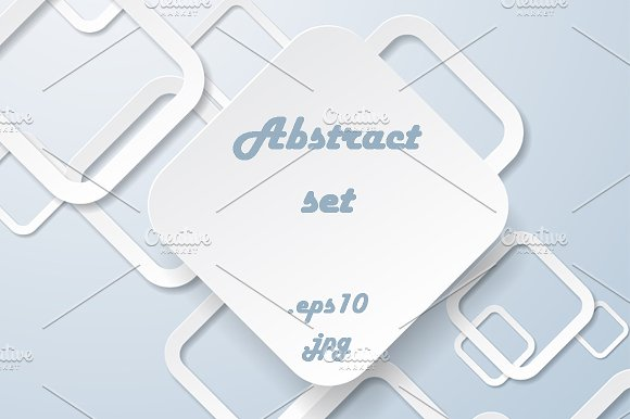 Abstract Geometric Backgrounds Set