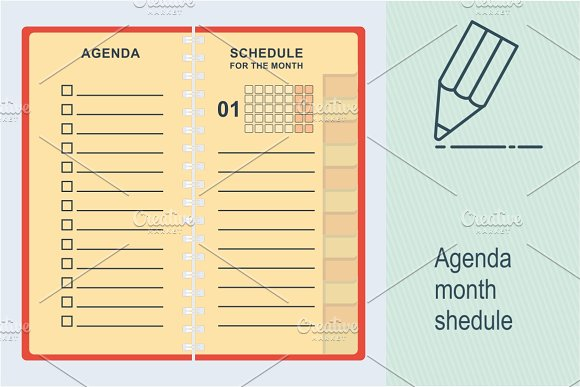 Agenda Month Shedule
