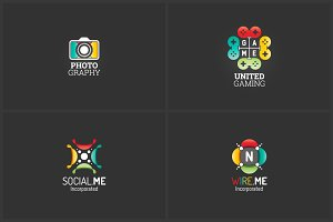 4 Advanced Logo Templates Bundle 4