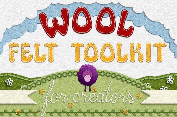 Wool Felt Tool Kit For Photoshop