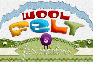 Wool Felt Tool Kit for Photoshop