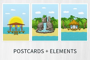 Tropical postcards