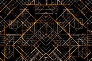 Modern Geometric Seamless Mosaic Pattern