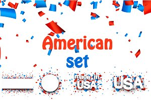 American cards & templates set