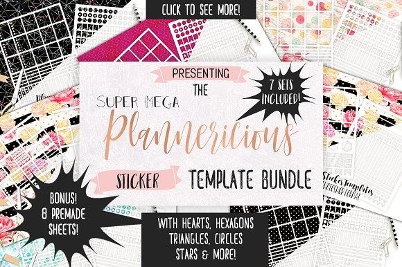 Planner Sticker Template Big Bundle