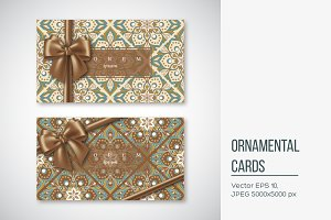 Set of cards in oriental style.