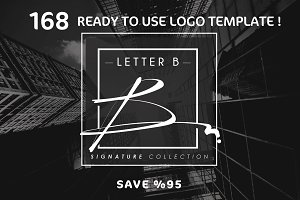 168 LETTER B SIGNATURE monogram logo