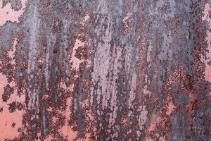 Pink pianted rusty metal texture