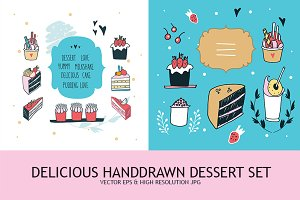 Handdrawn Desserts & Decoration Set