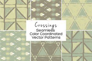 Crossings Seamless Vector Patterns