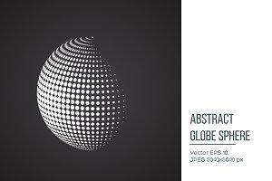 Halftone sphere.