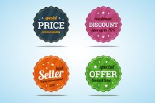 Special set of premium sale badges