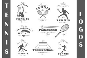 8 Tennis Logos Templates Vol.1
