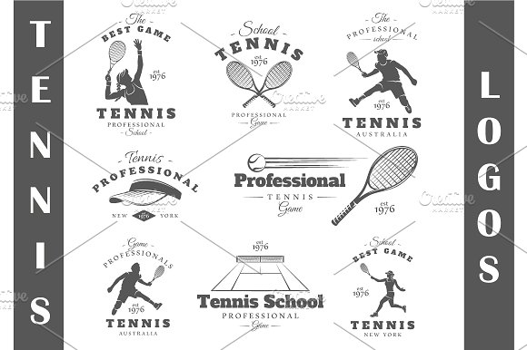 8 Tennis Logos Templates Vol.1 - Logos