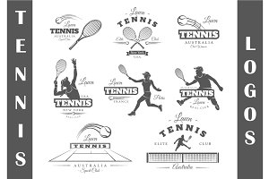 8 Tennis Logos Templates Vol.2