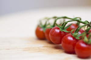 Some red cherry tomatoes