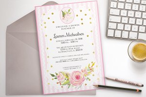 Flower shower party invitation