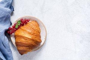 Croissant top view