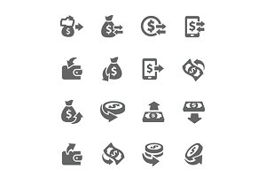 Money Moving Icons