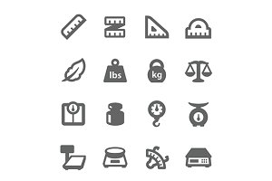 Scales and Rulers Icons