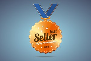 Best seller award medal
