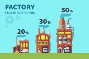 Factory. Vector Flat info graphic