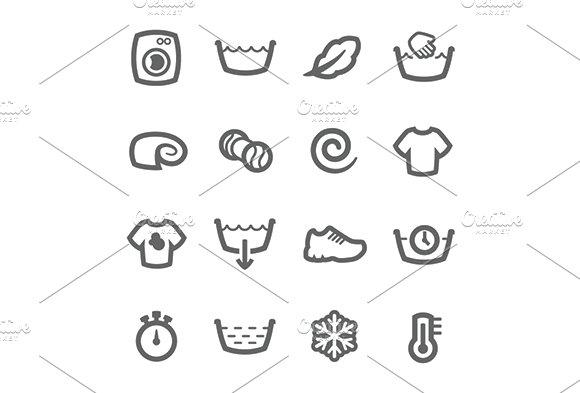 Washing Machine Icons Icons Creative Market