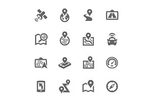 Simple Satellite Icons