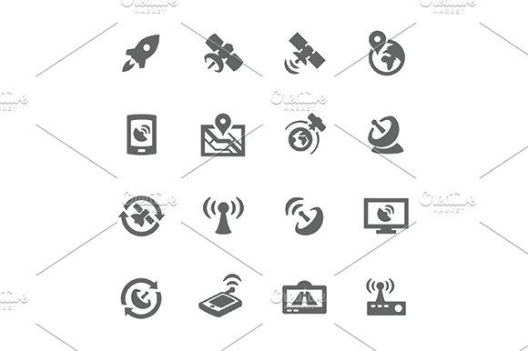 Simple Satellite Navigation Icons