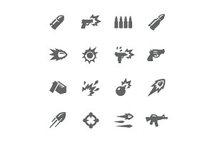 Simple Weapon Icons
