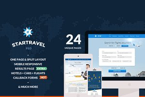 Star Travel - Online Booking 24 PSD