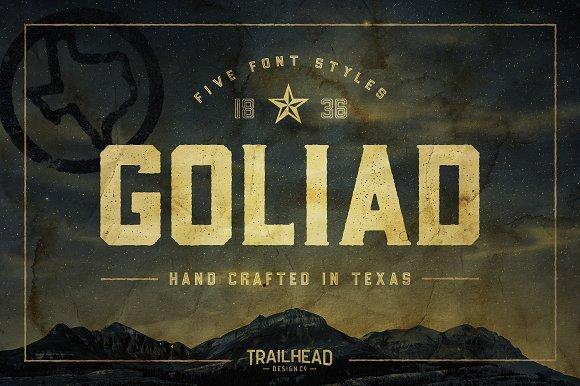 Goliad Font 5 Styles