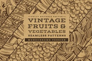 Fruits & Vegetables Vintage Patterns