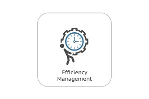 Efficiency Management Icon. Flat Design.