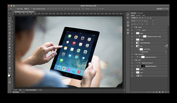 iPad Template, Concrete Jungle (S) in Templates - product preview 1